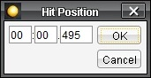 Hit position dialog
