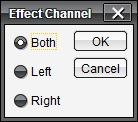 Effect channel dialog